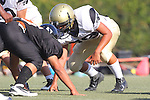 Beverly Hills, CA 09/23/11 - Justin Jimena (Peninsula #79) in action during the Peninsula-Beverly Hills frosh football game at Beverly Hills High School.