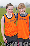 Ellen Browne and Katie Reidy, An Riocht, pictured at the County Finals of the Community Games cross country in Beaufort on Sunday.