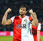 Nederland, Rotterdam, 1 december  2012.Eredivisie.Seizoen 2012-2013.Feyenoord-RKC Waalwijk.Graziano Pelle van Feyenoord scoort de 2-0