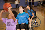 Duke Physical Therapy students and Duke Physicians Assistant students participate in an Adaptive Sports Experience with athletes from Bridge to Sport at Brodie Gym on Saturday, March 22nd.