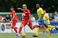 Jordan Maguire-Drew of Leyton Orient and Samson Doherty of Harlow Town during Harlow Town vs Leyton Orient, Friendly Match Football at The Harlow Arena on 6th July 2019