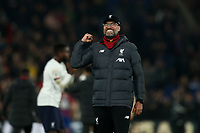 23rd November 2019; Selhurst Park, London, England; English Premier League Football, Crystal Palace versus Liverpool; Liverpool Manager Jurgen Klopp celebrates the 1-2 win - Strictly Editorial Use Only. No use with unauthorized audio, video, data, fixture lists, club/league logos or 'live' services. Online in-match use limited to 120 images, no video emulation. No use in betting, games or single club/league/player publications