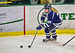 13 February 2015: University of New Hampshire Wildcat Defender Jess Ryan, a Senior from Cloquet, MN, in first period action against the University of Vermont Catamounts at Gutterson Fieldhouse in Burlington, Vermont. The Lady Wildcats defeated Vermont 4-2 in the first game of their weekend Hockey East series. Mandatory Credit: Ed Wolfstein Photo *** RAW (NEF) Image File Available ***