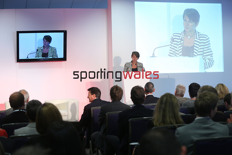 Laura McAllister<br /> Sport Wales Conference 2013<br /> Cardiff City Stadium<br /> 17.06.13<br /> ©Steve Pope