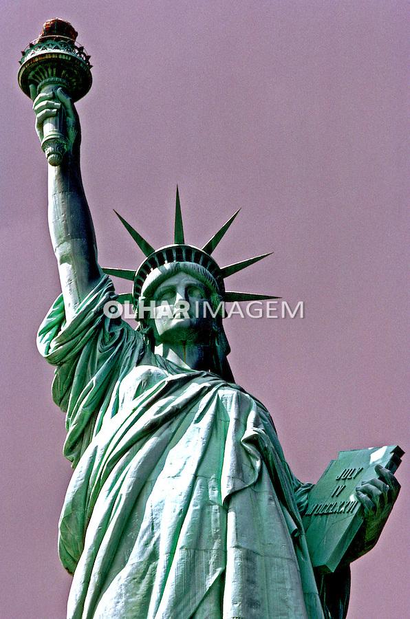 Estátua da Liberdade em Nova York. EUA. 1984. Foto de João Caldas.
