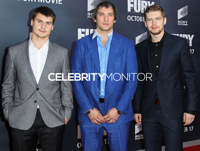 WASHINGTON, DC, USA - OCTOBER 15: Alex Ovechkin arrives at the Washington DC Premiere Of Sony Pictures' 'Fury' held at The Newseum on October 15, 2014 in Washington, DC, United States. (Photo by Jeffery Duran/Celebrity Monitor)
