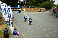 Thomas Newton and Juan-Peter Siebrits compete in the Gixxer Cup. The 2017 Suzuki series Cemetery Circuit motorcycle racing at Cooks Gardens in Wanganui, New Zealand on Tuesday, 27 December 2017. Photo: Dave Lintott / lintottphoto.co.nz