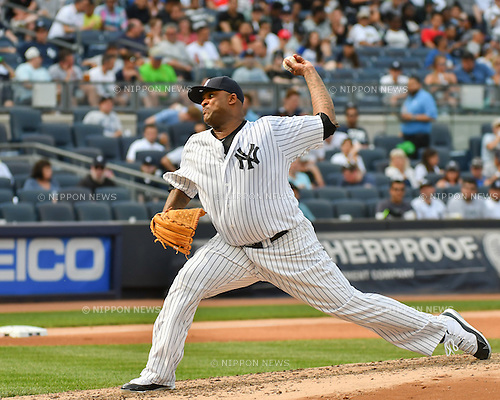 CC Sabathia (Yankees),<br /> MAY 26, 2016 - MLB : CC Sabathia of the New York Yankees during the Major League Baseball game at Yankee Stadium in the Bronx, NY, USA.<br /> (Photo by Hiroaki Yamaguchi/AFLO)