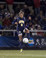 "West Virginia forward Frances Silva (9) traps the ball. Boston College defeated West Virginia, 4-0, in NCAA tournament ""Sweet 16"" match at Newton Soccer Field, Newton, MA."