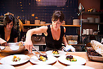 "Beast is a six-course, prix fixe restaurant in NE Portland, Oregon whose menu changes every Wednesday.  Chef Naomi Pomeroy (and single mom) and partner Micah Paredes focus on local ingredients in a style which they call ""refined French grandmother.""  Micah and Naomi prepare the main course, braised shortribs, potatoes, porcinis peas and a horseradish gremolata"