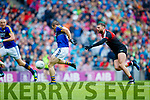 Stephen O'Brien Kerry scores a goal against  Mayo in the All Ireland Semi Final in Croke Park on Sunday.