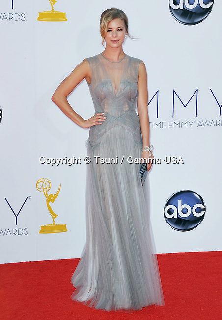 Emily VanCamp  at  64th PRIMETIME EMMYS Arrival at the Nokia Theatre in Los Angeles.