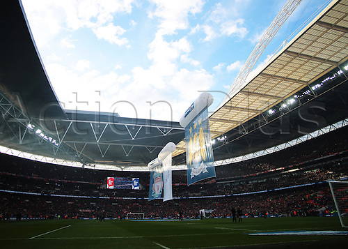 28.02.2016. Wembley Stadium, London, England. Capital One Cup Final. Manchester City versus Liverpool. Kick off imminent at Wembley Stadium