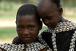 Themay children, Themay Tribe Village, Omo Valley, Ethiopia, portrait, person, one, tribes, tribal, indigenous, peoples, Southern, ethnic, rural, local, traditional, culture, primitive, young.Africa....