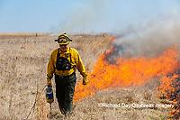 63863-02813 Prescribed Burn by IDNR Prairie Ridge State Natural Area Marion Co. IL