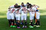 Sevilla FC's team photo with Samir Nasri, Steven N'Zonzi, Gabriel Mercado, Clement Lenglet, Sergio Rico, Adil Rami, Wissam Ben Yedder, Mariano Ferreira, Vitolo, Pablo Sarabia and Sergio Escudero during La Liga match. March 19,2017. (ALTERPHOTOS/Acero)