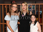 Deborah Mullan celebrating her 40th birthday in Brú with daughters Caoimhe and Cadhla. Photo:Colin Bell/pressphotos.ie