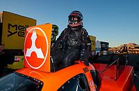 Nov 3, 2019; Las Vegas, NV, USA; NHRA funny car driver Jonnie Lindberg during the Dodge Nationals at The Strip at Las Vegas Motor Speedway. Mandatory Credit: Mark J. Rebilas-USA TODAY Sports