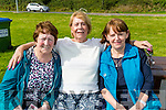 Theresa Ryan,Kay Branager andTheresa Kennelly (Tarbert), enjoying the sunshine at the Tarbert Family Funday at the Tarbert Pier on Sunday.