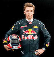 March 17, 2016: Daniil Kvyat (RUS) #26 from the Red Bull Racing teamat the drivers' portrait session prior to the 2016 Australian Formula One Grand Prix at Albert Park, Melbourne, Australia. Photo Sydney Low