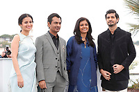 Rasika Dugal, Nawazuddin Siddiqui, Nandita Das and Tahar Rahim attend the photocall for 'MANTO' during the 71st annual Cannes Film Festival at Palais des Festivals on May 14, 2018 in Cannes, France.<br /> CAP/GOL<br /> &copy;GOL/Capital Pictures