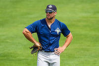 Columbia Fireflies outfielder Tim Tebow (15) during a South Atlantic League game against the Lexington Legends on May 28, 2017 at Whitaker Bank Ballpark in Lexington, Kentucky.  Lexington defeated Columbia 2-1. (Brad Krause/Krause Sports Photography)