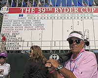 25 SEP 12  A wayward photographer at The 39th Ryder Cup at The Medinah Country Club in Medinah, Illinois.