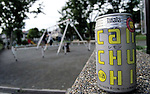 """Tokyo, Japan - """"Can Chu-hi"""" ready to be drinked at a local park. Chu-hi, which is a type of alcoholic drinks, is favorable for Japanese people. Chu-hi, which is a type of a alcoholic drink, is a favorite among many Japanese people. The name, """"Chu-hi"""" is a derived form of a combination of """"shochu and highball."""" Chu-hi companies often launch limited edition themed drinks to celebrate the different seasons in Japan. (Photo by Yumeto Yamazaki/AFLO)"""