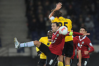 Football: Germany, DFB Cup,.Robert Koch (Dresden) - Steven Cherundolo (Hannover)..?Ǭ© pixathlon