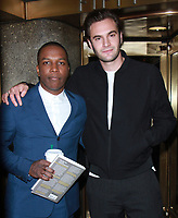 NEW YORK, NY - NOVEMBER 7: Leslie Odom Jr. and Tom Bateman at New York Live promoting Murder on The Orient Express in New York City on November 7, 2017. <br /> CAP/MPI/RW<br /> &copy;RW/MPI/Capital Pictures