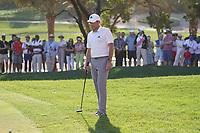 Sergio Garcia (ESP) on the 17th green during Round 3 of the Abu Dhabi HSBC Championship at the Abu Dhabi Golf Club, Abu Dhabi, United Arab Emirates. 18/01/2020<br /> Picture: Golffile | Thos Caffrey<br /> <br /> <br /> All photo usage must carry mandatory copyright credit (© Golffile | Thos Caffrey)