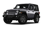 Stock pictures of low aggressive front three quarter view of 2018 JEEP Wrangler Sport 3 Door SUV Low Aggressive
