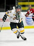 30 October 2009: University of Vermont Catamount defenseman Hannah Westbrook, a Junior from Laramie, WY, in action against the Northeastern University Huskies at Gutterson Fieldhouse in Burlington, Vermont. The Catamounts were shut out by the visiting Huskies 3-0. Mandatory Credit: Ed Wolfstein Photo