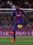 04.03.2017 Barcelona. La Liga game 26. Picture show Umtiti in action during game between FC Barcelona against Celta at Camop Nou