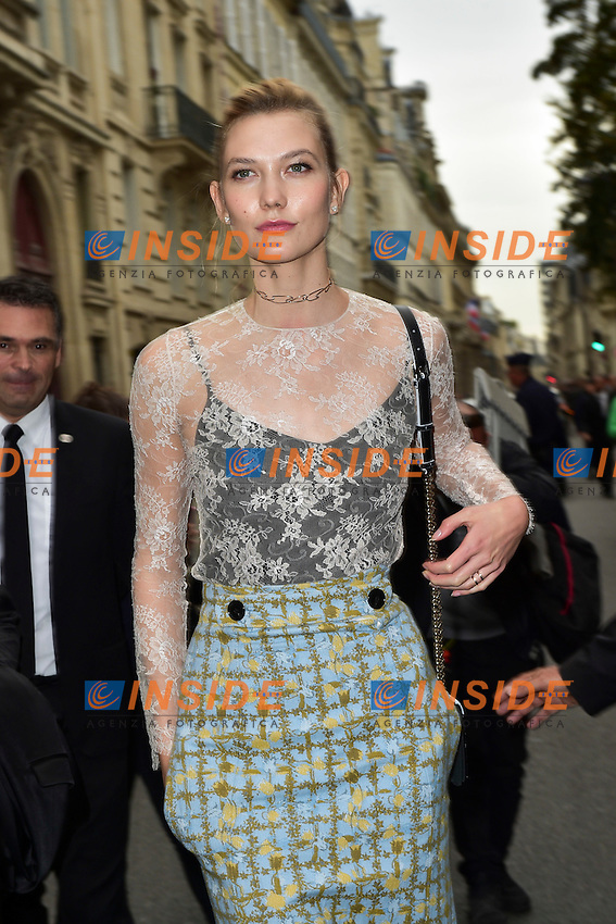 Karlie Kloss <br /> Dior fashion show arrivals - Paris - 30/09/2016