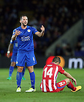 Leicester's Danny Drinkwater looks on dejected during the Champions League Quarter-Final 2nd leg match at the King Power Stadium, Leicester. Picture date: April 18th, 2017. Pic credit should read: David Klein/Sportimage