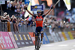 Vincenzo Nibali (ITA) Bahrain-Merida wins solo the 111th edition of Il Lombardia 2017 &quot; The Race of the Falling Leaves&quot; the final monument of the season, running 247km from Bergamo to Como, Italy. 7th October 2017.<br /> Picture: LaPresse/Fabio Ferrari | Cyclefile<br /> <br /> <br /> All photos usage must carry mandatory copyright credit (&copy; Cyclefile | LaPresse/Fabio Ferrari)