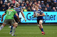 Miles Reid of Bath Rugby in possession. Gallagher Premiership match, between Bath Rugby and Harlequins on March 2, 2019 at the Recreation Ground in Bath, England. Photo by: Patrick Khachfe / Onside Images