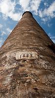 Old 1883 chimney from Halstead Sugar Mill, Waialua, Oahu, Hawaii