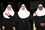 Christine Mild, Cindy Williams, Bambi Jones performing a preview of 'Nunset Boulevard: The Nunsense Hollywood Bowl Show' at the Bowlmor Lanes Thursday, Sept. 27, 2012 in Times Square, New York.