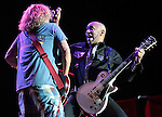 Vic Johnson and Sammy Hagar perform at Harveys Lake Tahoe in Stateline, Nev., on Saturday, Sept. 1, 2012. .Photo by Cathleen Allison