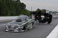 May 10, 2013; Commerce, GA, USA: NHRA funny car driver Alexis DeJoria during qualifying for the Southern Nationals at Atlanta Dragway. Mandatory Credit: Mark J. Rebilas-