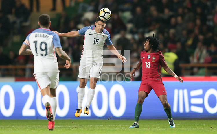 Leiria, Portugal - Tuesday November 14, 2017: Eric Lichaj during an International friendly match between the United States (USA) and Portugal (POR) at Estádio Dr. Magalhães Pessoa.