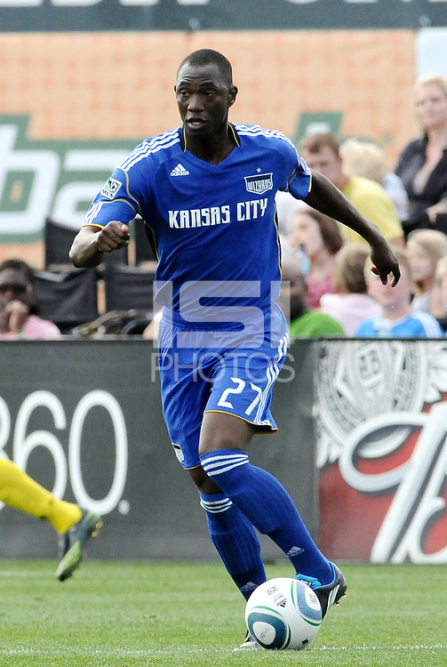 Birahim Diop...Kansas City Wizards were defeated 1-0 by Columbus Crew at Community America Ballpark, Kansas City, Kansas.