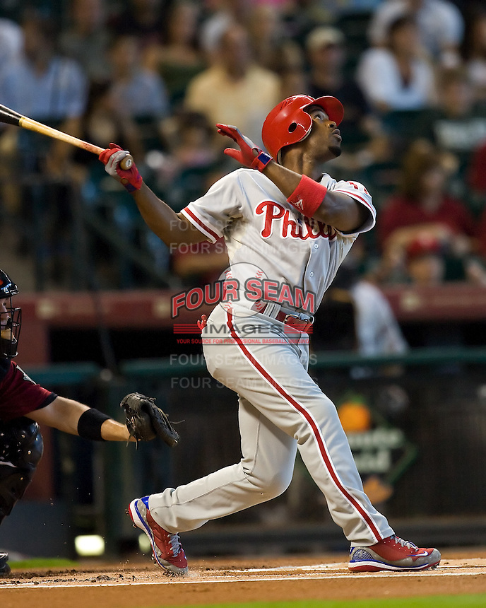 Rollins, Jimmy 6002.jpg Philadelphia Phillies at Houston Astros. Major League Baseball. September 7th, 2009 at Minute Maid Park in Houston, Texas. Photo by Andrew Woolley.