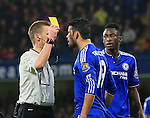 Chelsea's Diego Costa gets booked for this foul on Bournemouth's Matt Ritchie<br /> <br /> Barclays Premier League - Chelsea v AFC Bournemouth - Stamford Bridge - England - 5th December 2015 - Picture David Klein/Sportimage