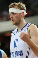 GB's Dan Clark during the EuroBasket 2015 2nd Qualifying Round Great Britain v Bosnia & Herzegovina (Euro Basket 2nd Qualifying Round) at Copper Box Arena in London. - 13/08/2014