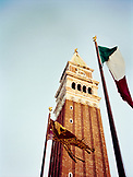 ITALY, Venice, low angle view of bell tower in St. Mark's Square.