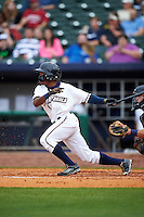 NW Arkansas Naturals outfielder Terrance Gore (3) at bat during a game against the San Antonio Missions on May 30, 2015 at Arvest Ballpark in Springdale, Arkansas.  San Antonio defeated NW Arkansas 5-1.  (Mike Janes/Four Seam Images)