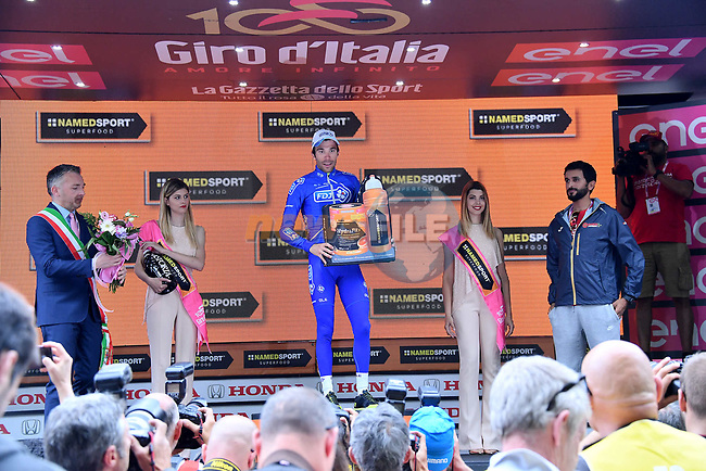 Thibaut Pinot (FRA) FDJ wins Stage 20 of the 100th edition of the Giro d'Italia 2017, running 190km from Pordenone to Asiago, Italy. 27th May 2017.<br /> Picture: LaPresse/Gian Mattia D'Alberto | Cyclefile<br /> <br /> <br /> All photos usage must carry mandatory copyright credit (&copy; Cyclefile | LaPresse/Gian Mattia D'Alberto)